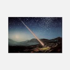 Artwork of meteorite hitting the  Rectangle Magnet