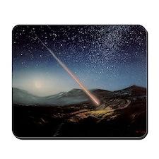 Artwork of meteorite hitting the ground Mousepad