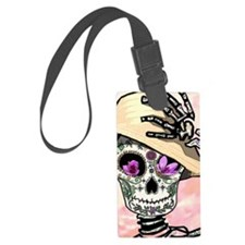 Sunny Skeleton Luggage Tag