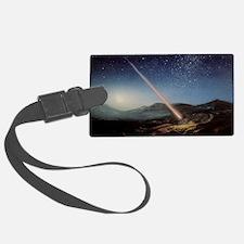 Artwork of meteorite hitting the Luggage Tag