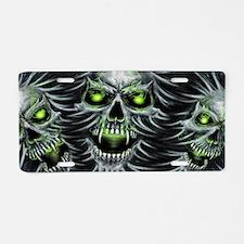 Green-Eyed Skulls Aluminum License Plate