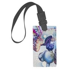 Artwork of the memory areas of t Luggage Tag