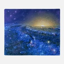 Artwork of the Milky Way, our galaxy Throw Blanket