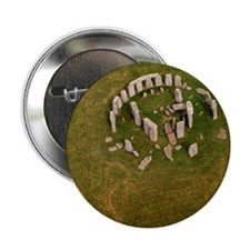 """Aerial view of Stonehenge 2.25"""" Button"""