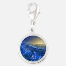 Artwork of the Milky Way, our  Silver Round Charm