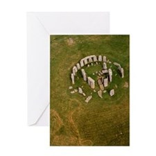 Aerial view of Stonehenge Greeting Card