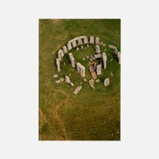 Aerial view of Stonehenge Rectangle Magnet