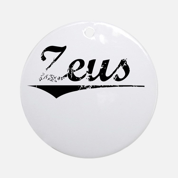 Zeus, Vintage Round Ornament