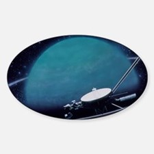 Artwork showing Voyager 2's encount Sticker (Oval)