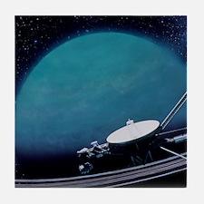 Artwork showing Voyager 2's encounter Tile Coaster