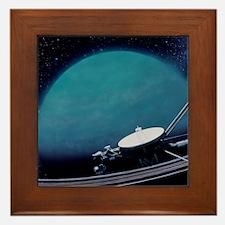 Artwork showing Voyager 2's encounter  Framed Tile