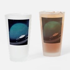 Artwork showing Voyager 2's encount Drinking Glass