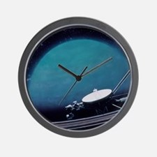 Artwork showing Voyager 2's encounter w Wall Clock