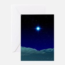 Alien night sky Greeting Card