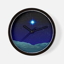 Alien night sky Wall Clock