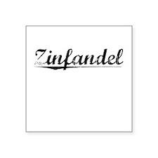 "Zinfandel, Vintage Square Sticker 3"" x 3"""