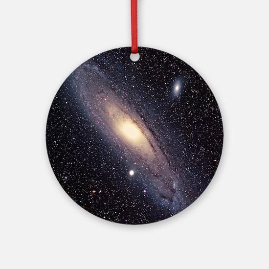 Andromeda galaxy Round Ornament