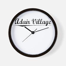 Adair Village, Vintage Wall Clock