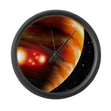 Artwork of first comet impacts on Large Wall Clock