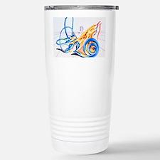 Artwork of inner ear Stainless Steel Travel Mug