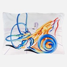 Artwork of inner ear Pillow Case