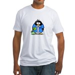 Bowling Penguin Fitted T-Shirt
