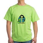 Bowling Penguin Green T-Shirt