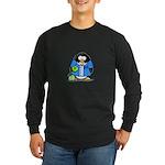 Bowling Penguin Long Sleeve Dark T-Shirt