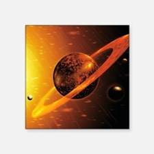 "Artwork of red dwarf star w Square Sticker 3"" x 3"""