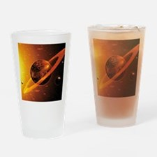 Artwork of red dwarf star with flar Drinking Glass