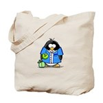 Bowling Penguin Tote Bag
