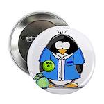 Bowling Penguin Button