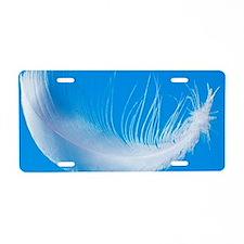 Bird feather Aluminum License Plate