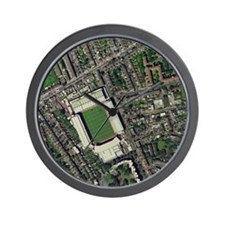 Arsenal's Highbury stadium, aerial view Wall Clock