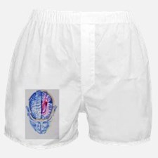 Art of abstract head showing brain li Boxer Shorts
