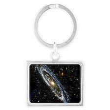Andromeda Galaxy, UV image Landscape Keychain