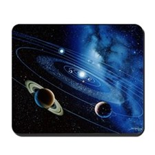 Artwork of the solar system with planeta Mousepad