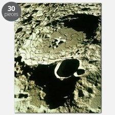 Apollo 11 image of craters on the Moon Puzzle
