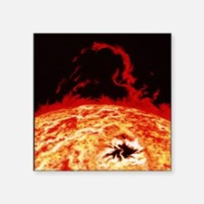 "Artwork of solar prominence Square Sticker 3"" x 3"""