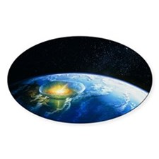 Artist's impression of asteroid sti Decal