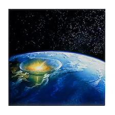 Artist's impression of asteroid stiki Tile Coaster