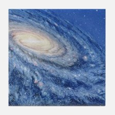 Artwork of the Milky Way, our galaxy Tile Coaster