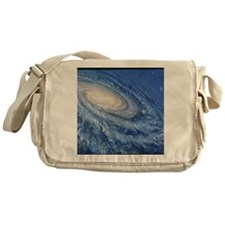 Artwork of the Milky Way, our galaxy Messenger Bag