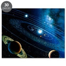 Artwork of the solar system Puzzle