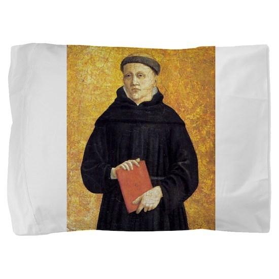 Augustinian Saint - Piero della Francesca Pillow S