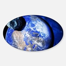 Asteroid approaching Earth Decal