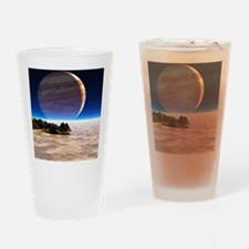 Artwork of Europa's surface with Ju Drinking Glass