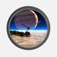 Artwork of Europa's surface with Jupite Wall Clock