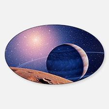 Artwork of a brown dwarf star Decal