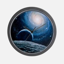 Artwork of a spiral galaxy Wall Clock